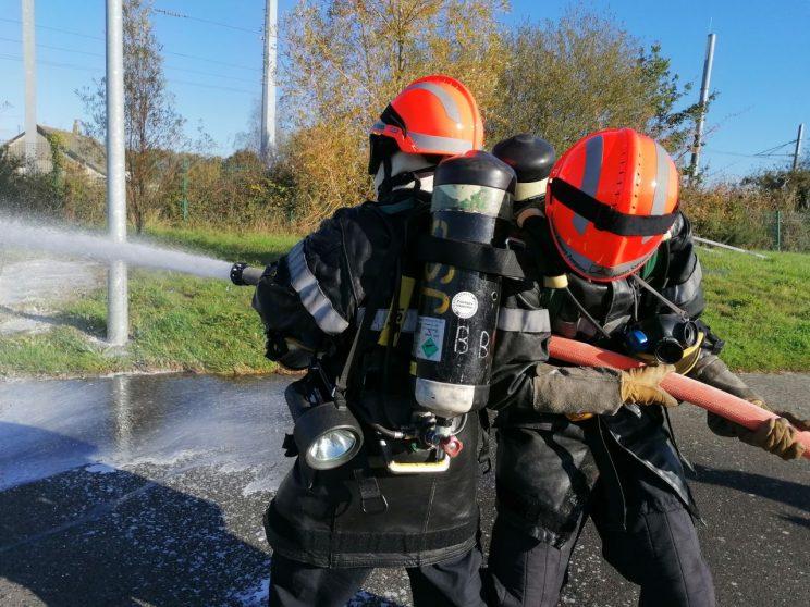Matinée d'enseignement de jeunes sapeurs-pompiers