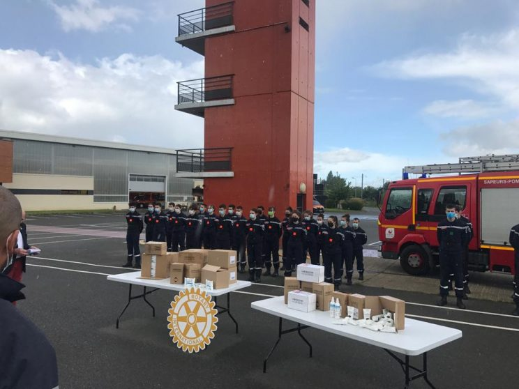 Ouest-France et le Rotary Club de Rennes soutiennent nos jeunes sapeurs-pompiers